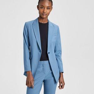 4b4e2ae16d Theory Jackets & Coats - NWT Theory Etiennette B Good Wool Long Blazer blue